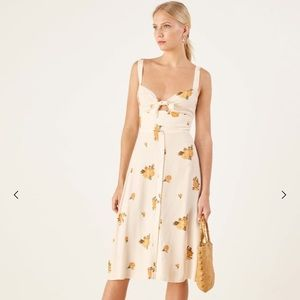 Reformation Frankfort Midi Dress